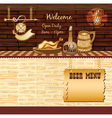 Retro Cafe web template vector image