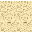 Seamless Workshop Tools Pattern vector image