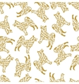 Typographic seamless pattern with dog silhouette vector image