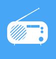 vintage radio on blue background vector image