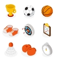 Isometric sport flat icons vector image vector image