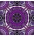 Seamless violet pattern with oriental mandalas vector image