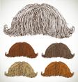 Classic retro lush mustache set vector image vector image