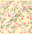 watercolor spring floral pattern vector image