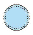 Blue label emblem decoration sticker style vector image