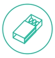 Matchbox line icon vector image