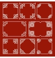 Chinese decorative frames and borders set vector image