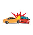 auto accident involving two cars vector image