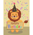 Birthday Lion Cartoon vector image