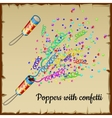 Confetti and streamers from fireworks vector image