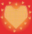 design of valentine day symbol red heart vector image