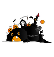Halloween drawing vector image