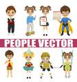 set of diverse kids vector image