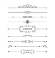 Frame and dividers set isolated on white vector image