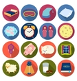 Sleep and rest set icons in flat style Big vector image