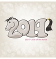 Horse stylization in 2014 form vector image