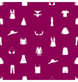 womens clothing icon pattern eps10 vector image