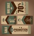 Sale Coupon voucher tag Vintage Style template vector image