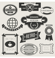 Retro Vintage Logotypes vector image