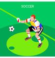 Soccer Goalkeeper 2016 Summer Games Isometric vector image vector image