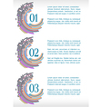 progress template with abstract mosaic vector image vector image