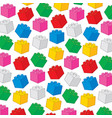 background pattern with plastic building blocks vector image
