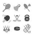 Collection of icons Sport equipment vector image
