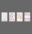 floral summer journaling cards vector image