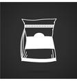 Glutamine supplement white icon vector image
