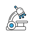 microscope device isolated icon vector image