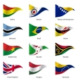 Set Flags of world sovereign states vector image