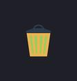 Trash can computer symbol vector image