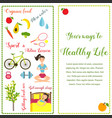 two banners healthy life style in flat design vector image