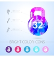 weight icon with infographic elements vector image