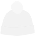 White winter hat with pompom vector image
