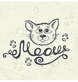 Background with cat muzzle vector image