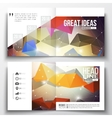 Set of square design brochure template Molecular vector image