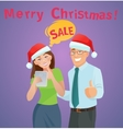 Christmas sales e-commerce concept vector image