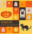 halloween icons and buttons set vector image