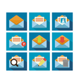 Flat Icon Design Mail vector image