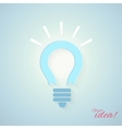 Business concept with bulb vector image