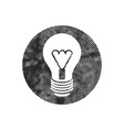 Light bulb icon with pixel print halftone dots vector image vector image