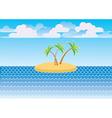 sea island vector image vector image
