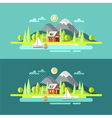 Nature Summer Landscape vector image