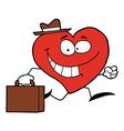 Heart Businessman vector image vector image