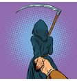 Follow me the Grim Reaper leads vector image