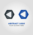 abstract business logo template in black and blue vector image