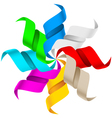 abstract ribbons on a white background for design vector image