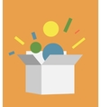 Flat style box icon vector image