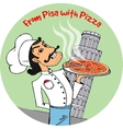 From Pisa with Pizza vector image